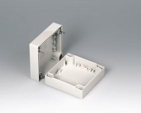 Gehäuseschalen ROBUST-BOX 120 breit, 120 x 120 x 60, lichtgrau
