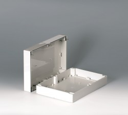 Gehäuseschalen ROBUST-BOX 200 breit, 300 x 200 x 80, lichtgrau