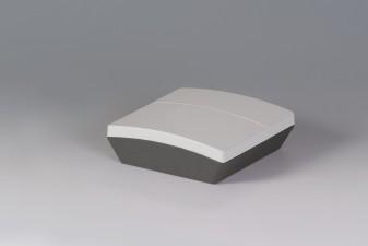 Dreiteiliges Gehäuse NET-BOX 140, 140 x 140 x 46.5, lichtgrau + lava