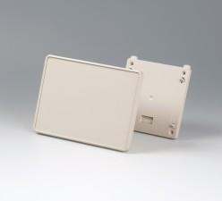 Gehäuse Interface-Terminal flach S, 135 x 190 x 35 grauweiss, ohne Batteriefach mit Wandhalter und Frontplatte
