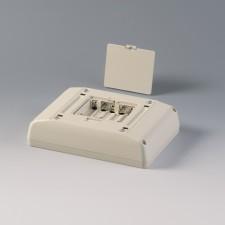 Gehäuse Interface-Terminal Mobil S, 135 x 190 x 46 grauweiss, mit Batteriefach 5 x AA