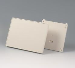 Gehäuse Interface-Terminal flach L, 196 x 276 x 37 grauweiss, ohne Batteriefach mit Wandhalter und Frontplatte