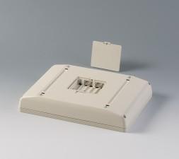 Gehäuse Interface-Terminal Mobil L, 195 x 275 x 49 grauweiss, mit Batteriefach 5 x AA