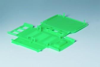 Klappgehäuse RASPBERRY-Case Pi B+ / Pi 2 B, 210 x 180 x 16, mintgrün transluzent