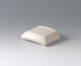 Gehäuse ERGO-CASE S, flach, 80 x 96 x 32, grauweiss, integrierte Halteung 2x AAA, Ansteckclip