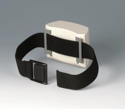 Gehäuse ERGO-CASE S, hoch, 80 x 96 x 44, grauweiss, integrierte Halteung 2x AAA, Gurtschlaufen-Befestigung, Gurt + Dichtung