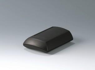 Gehäuse ERGO-CASE M, flach, 150 x 100 x 40, schwarz, mit Batteriefach 4x AA und Dichtungs-Set