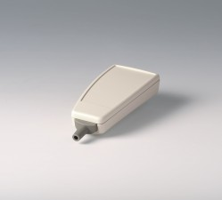 Gehäuse SMART-CASE M, 96 x 47 x 24, grauweiss mit Kabeltülle und Zugentlastungs-Set