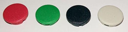 Abschlussdeckel zu Knopf ⌀9mm und ⌀10mm, rot