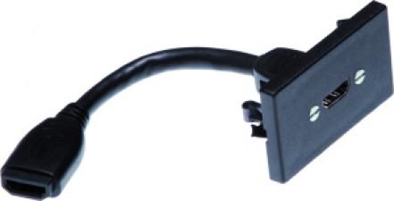 FLF schwarz mit kurzem HDMI-Kabel