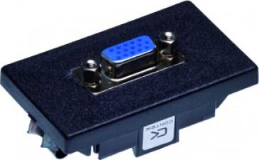 """FLF Montageplatte schwarz, 1 x VGA (""""HD"""")"""
