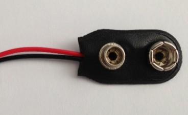 Batteriekontakt für 1 x 9V-Batterie, 5.5 mm