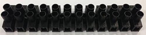 Klemmleiste 12-polig, Länge 95 mm, schwarz