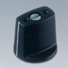 Knebelknopf ⌀16mm, 4mm abgesetzt, schwarz mit Markierung