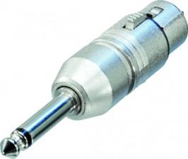 3-polige XLR Kabelbuchse – Mono 6.35 mm Klinkenstecker, XLR fem / Klinkenstecker mono