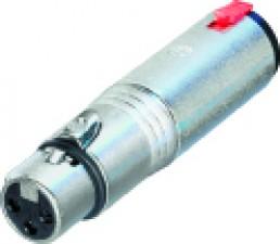 3-polige XLR Kabelbuchse - Stereo 6.35 mm Klinkenbuchse, XLR fem / Klinkenbuchse stereo