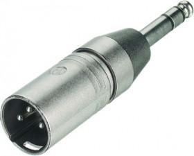3-poliger XLR Kabelstecker - Klinkenstecker stereo, XLR male / Klinkenstecker stereo