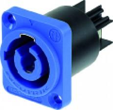 3-poliger Einbaustecker, luftdicht, A-Typ für 'power-in', blau
