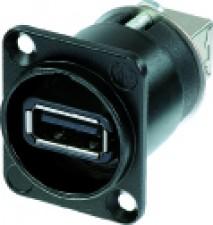 Reversibler USB-Adapter (Typ A und B), schwarzes D-Gehäuse