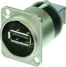 Reversibler USB-Adapter (Typ A und B), Nickel D-Gehäuse
