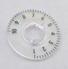 Skalenscheibe zu Knopf ⌀10mm, 270°, 1-10
