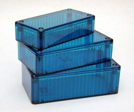 Kunststoffgehäuse ice blau, 112 x 62 x 27 mm