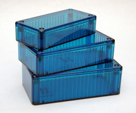Kunststoffgehäuse ice blau, 150 x 80 x 46 mm