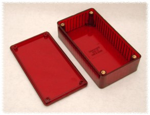 Kunststoffgehäuse ir rot, 191 x 110 x 57 mm
