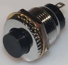 Knopf, 1x Schliesser, Rot, 1 Amp,  125 V.