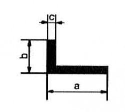 Messingprofile L: 1m, 20 x 10 x 2 mm