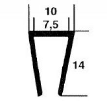 Kunststoffprofile 14x10, grau