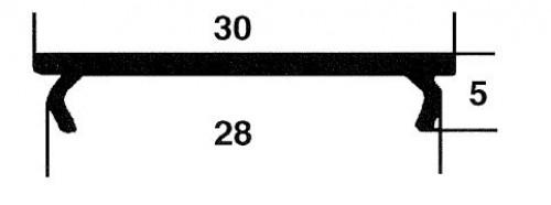 Kunststoffprofile 30x5, grau