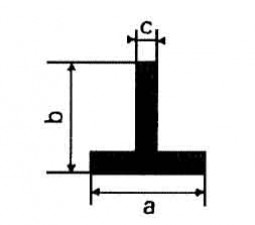 Alu-T-Profile L: 1m, 20 x 20 x 2 mm