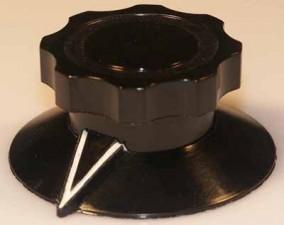 Knopf, 61mm x 76mm, H: 31mm, schwarz