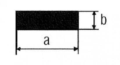 Flachkupfer, Länge 1m, 15 x 6 mm