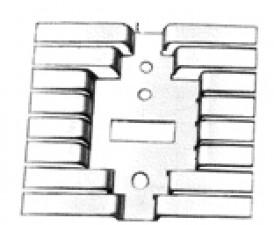 Kühlkörper aus Alu eloxiert, schwarz für TO 3-66-202-220, A 44