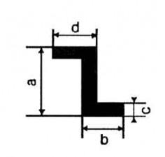 Alu-Z-Profile, Extrudal-050 L: 1m, 25 x 22 x 15 x 3 mm