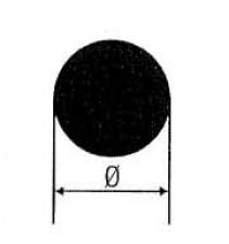 Rundmessing, Länge 1m, D: 10.5 mm