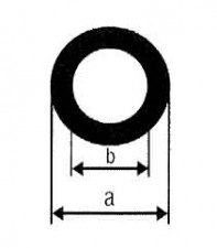 Rohre, Anticorodal-100, D: 10mm, d: 6mm, L: 1m