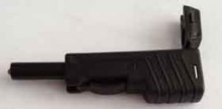 Stecker Schwarz, Laborstecker Schiebehülse ø4mm, mit Weitersteckmöglichkeit
