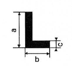Kunststoffprofile, L-Profil, grau L: 1m,  35x20x2mm