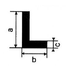 Profile Alu-Standard L: 1m, 40 x 25 x 3 mm