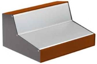Pult-Gehäuse schwarz-orange 235 x 300 x 156 x 52 mm
