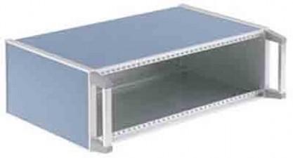 Einschub-Gehäuse, kunststoffbeschichtet, 388.5 x 250 x 146.5 mm, Blau