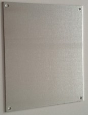 Frontplatte Alu eloxiert, 167 x 47 mm