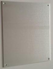 Frontplatte Alu eloxiert, 127 x 47 mm