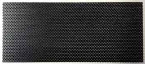 Seitenblech Stahl schwarz verzinkt, gelocht, 80 x 400 mm