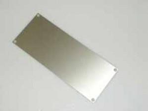 Alu-Frontplatte 110 x 104 mm