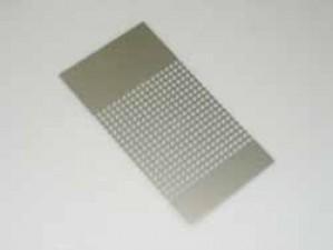 Abdeckungsplatte gelocht, Alu eloxiert 165 x 89 mm