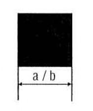 Vierkantmessing, Länge 1m, 6 x 6 mm